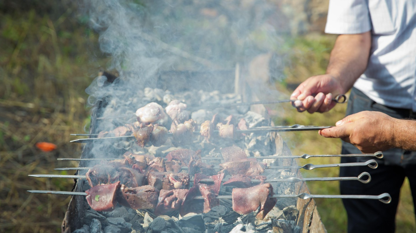 Flavoursome grilled kebabs are a staple of Azerbaijani cuisine