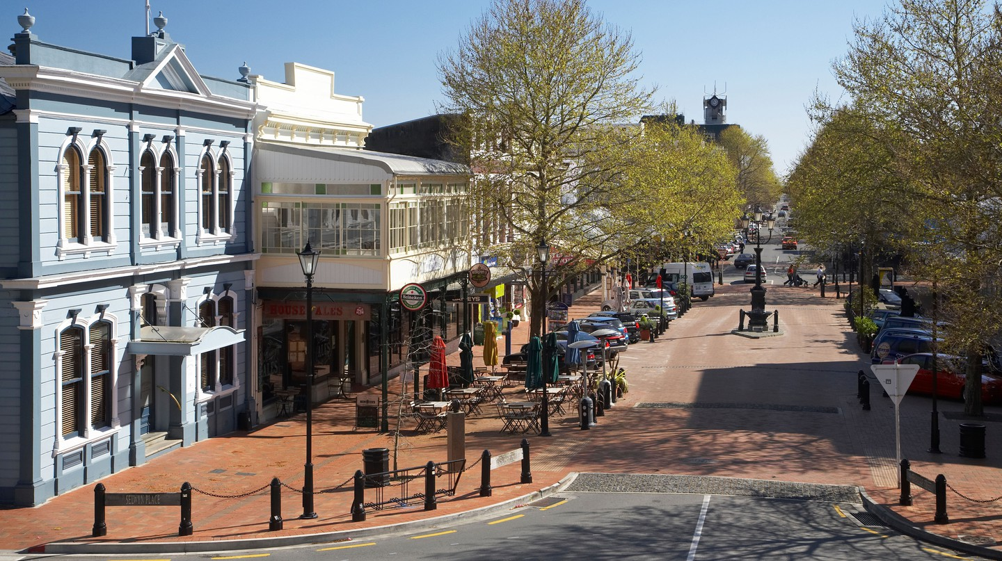 Trafalgar Street in Nelson offers a number of places to stop and grab a coffee