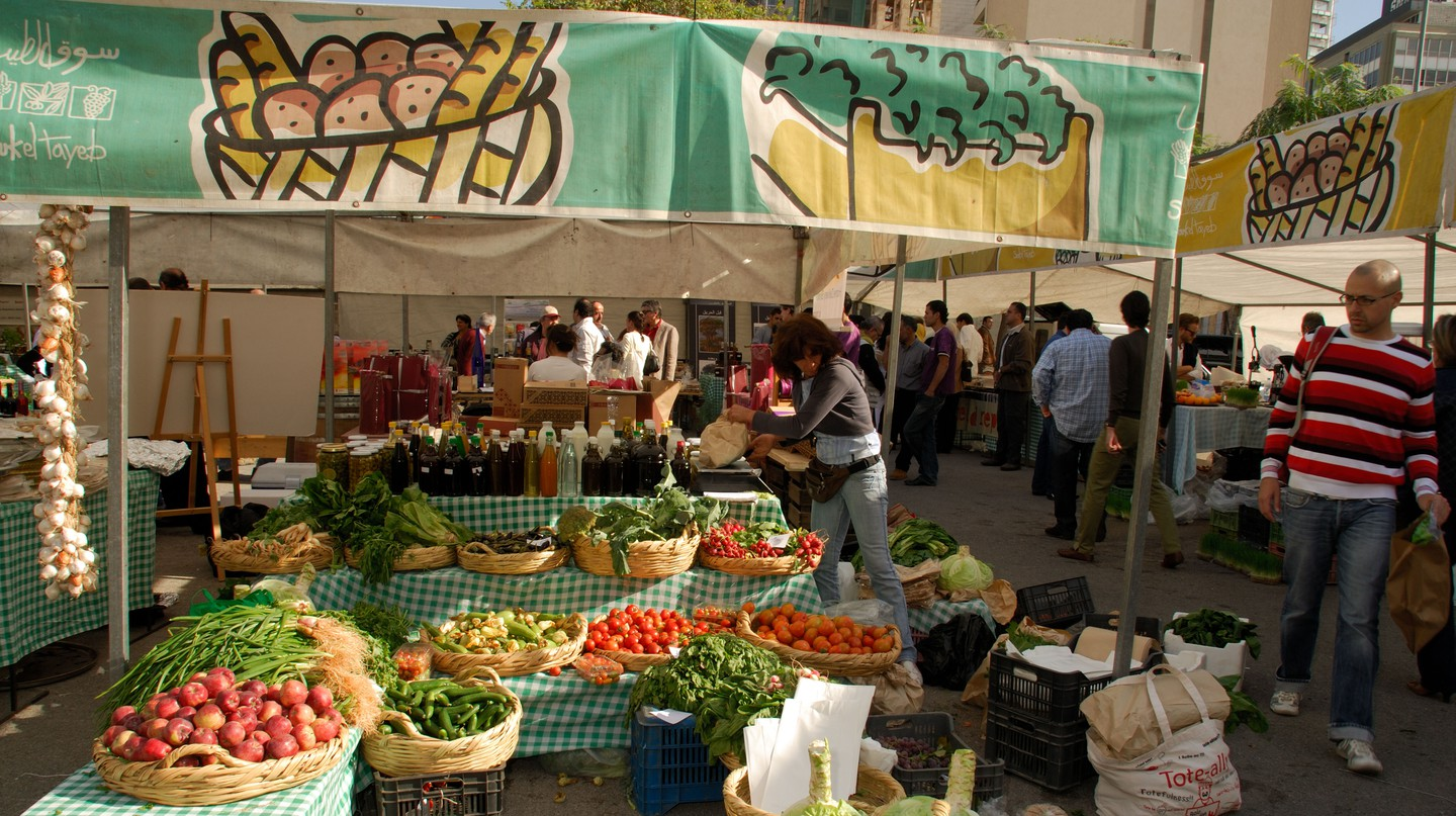 The Souk el Tayeb farmers market is a great place to get fresh produce