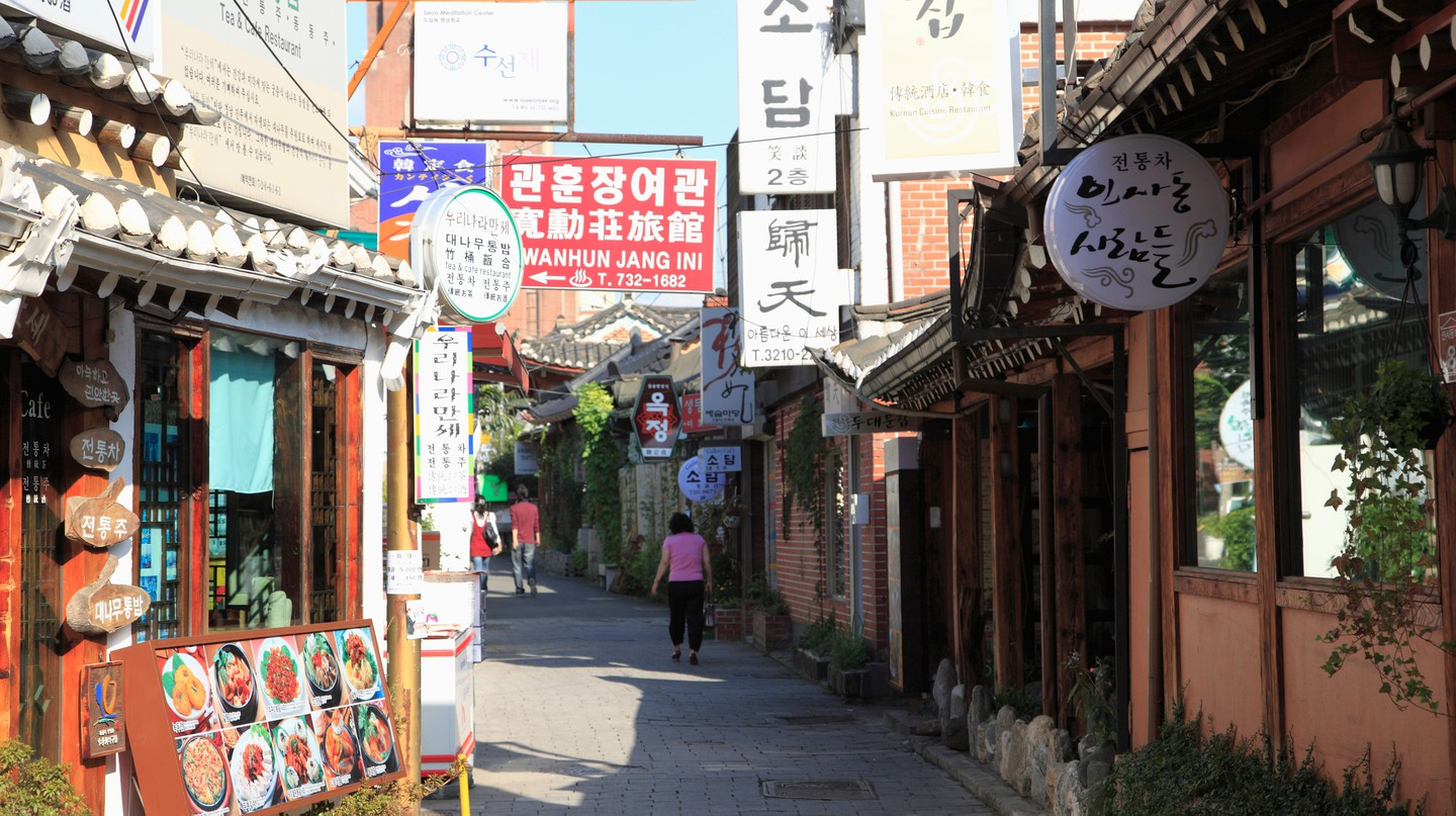 Insadong is a mix of historical teahouses, traditional hanok buildings and a decidedly contemporary outlook