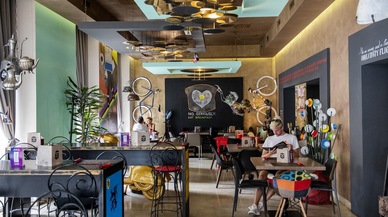 Bonk is both a vibrant café and a bike shop