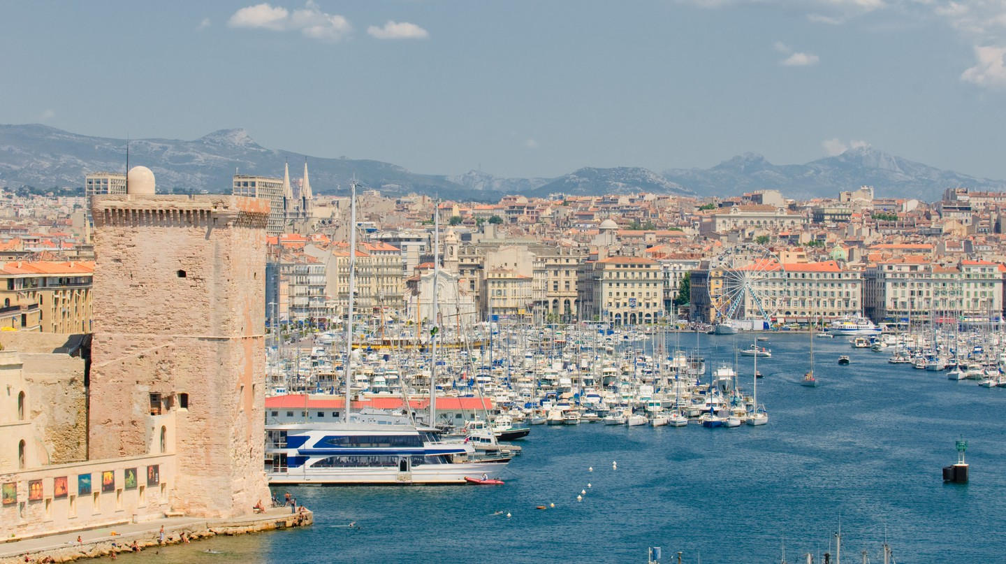 Marseille's Old Port boasts a wealth of cafés and restaurants, many with a sea view