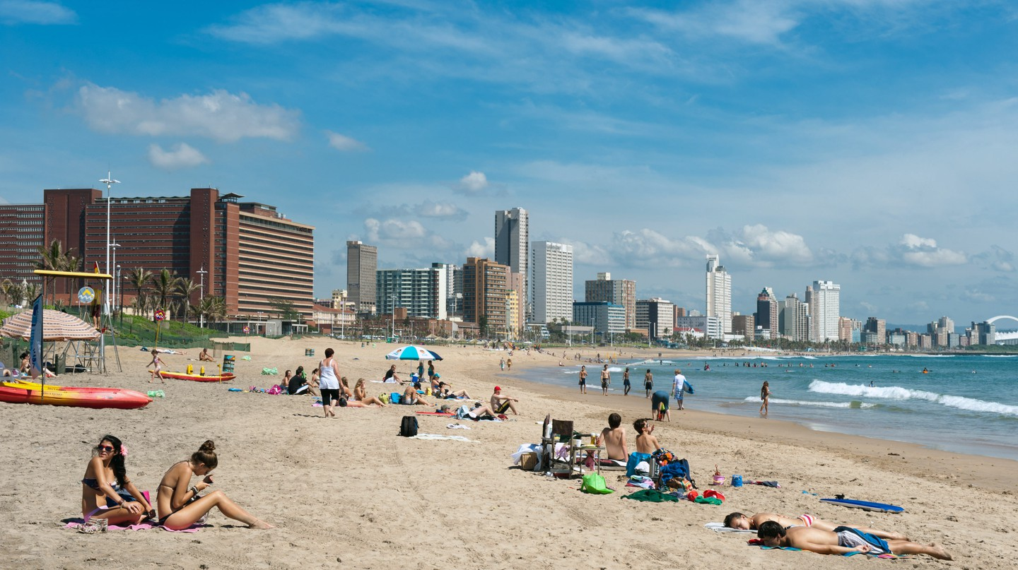 Durban's beaches are popular with tourists and locals