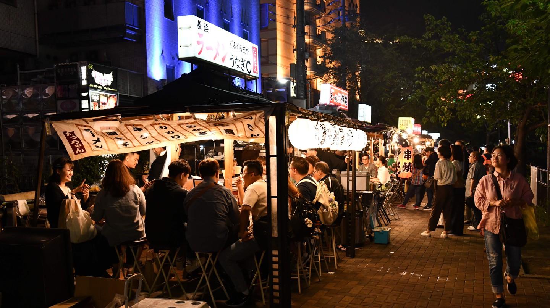 Bars in Fukuoka, Japan.