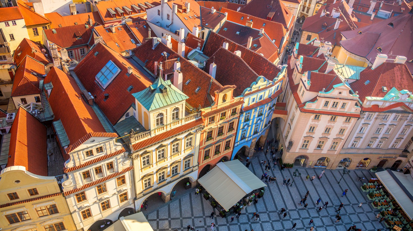 Prague is super Instagrammable with its classic red rooftops
