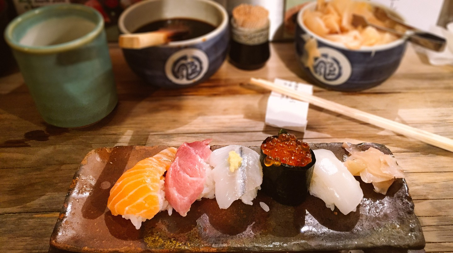 There are numerous excellent sushi restaurants in Kyoto