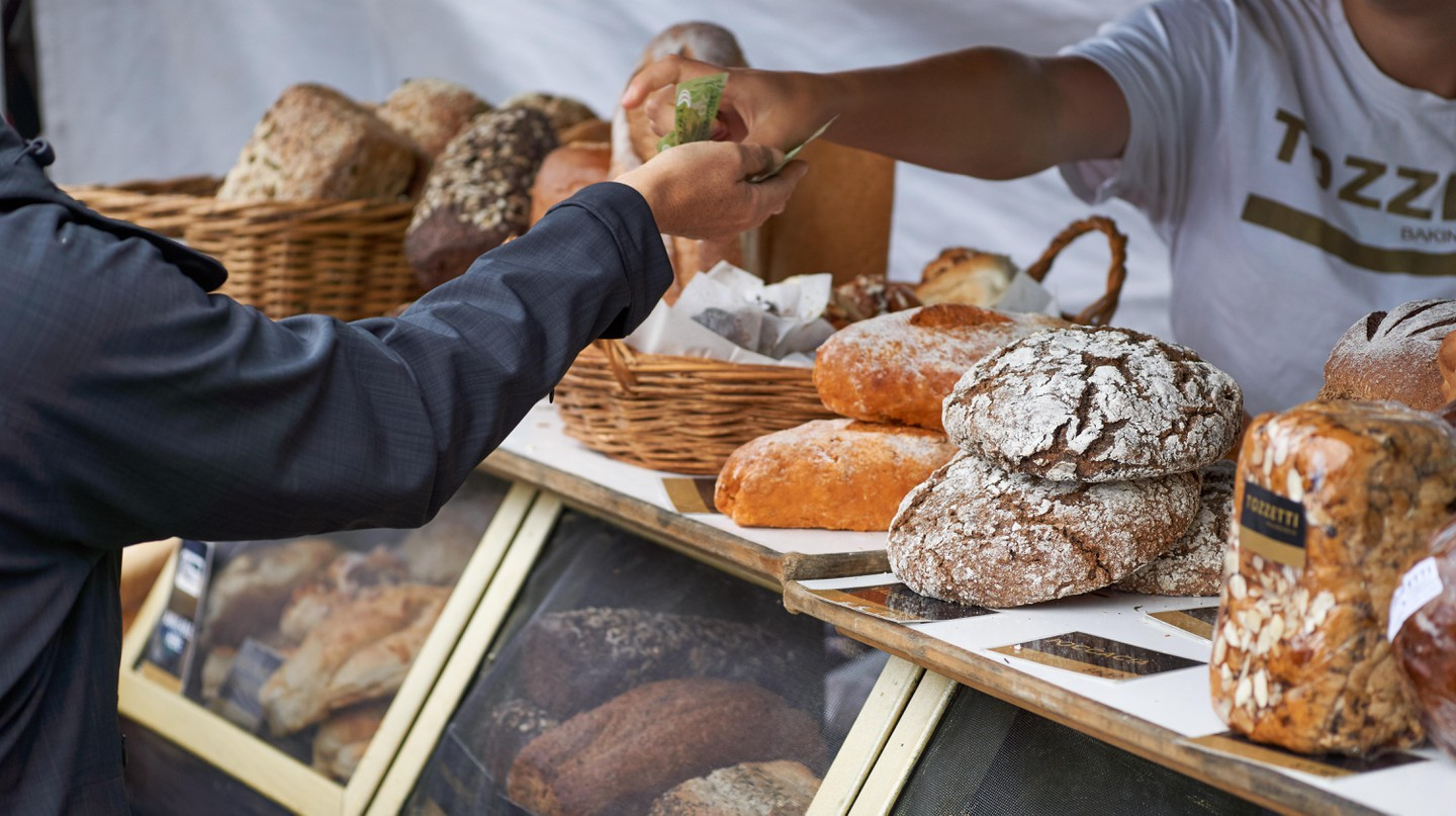 Nelson Market is a great place to purchase tasty treats and meet local merchants