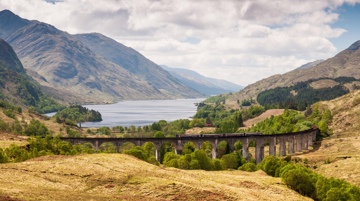 Glenfinnan Viaduct on the West Highland Railway Line, Scotland