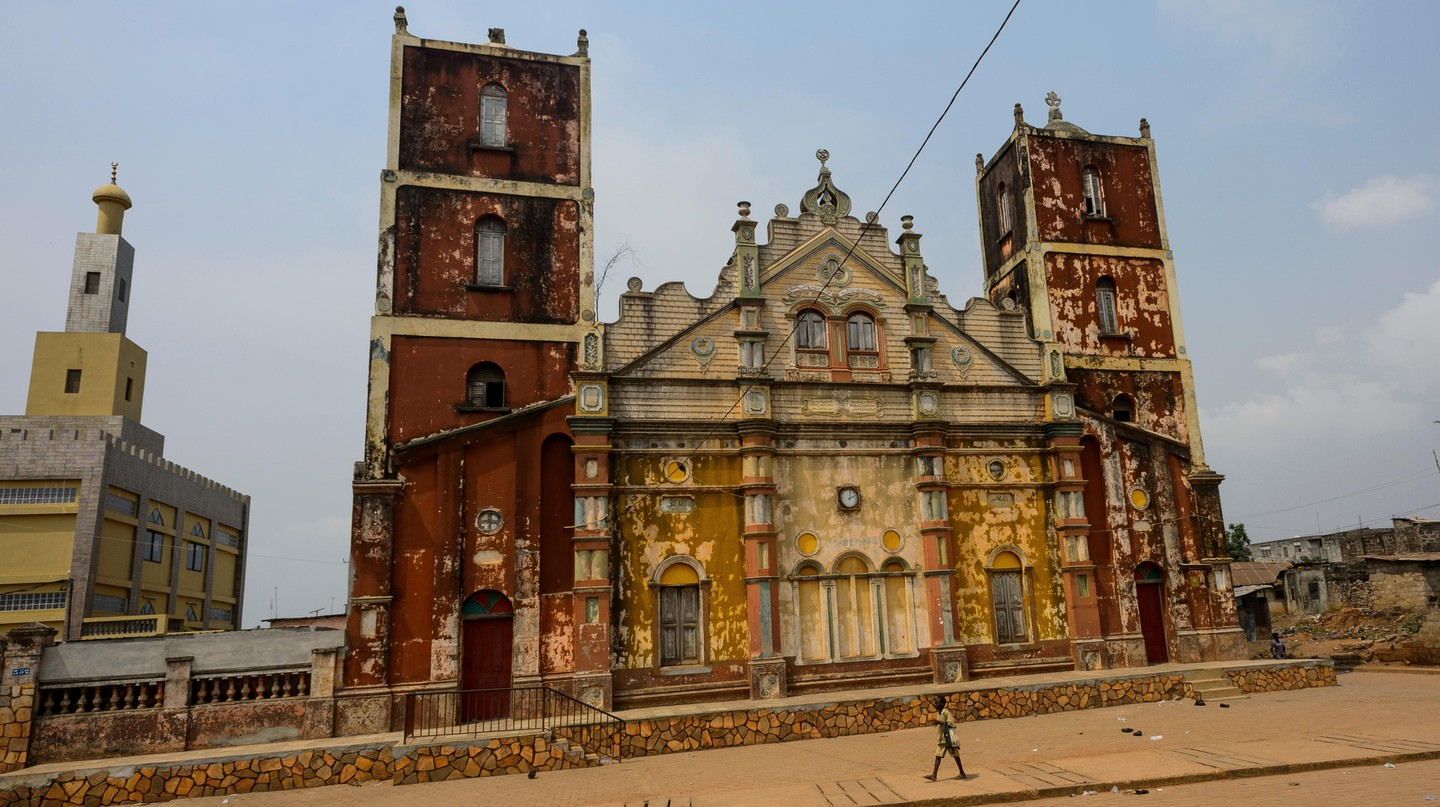 The Grand Mosque of Porto-Novo, Benin, was built between 1912-35