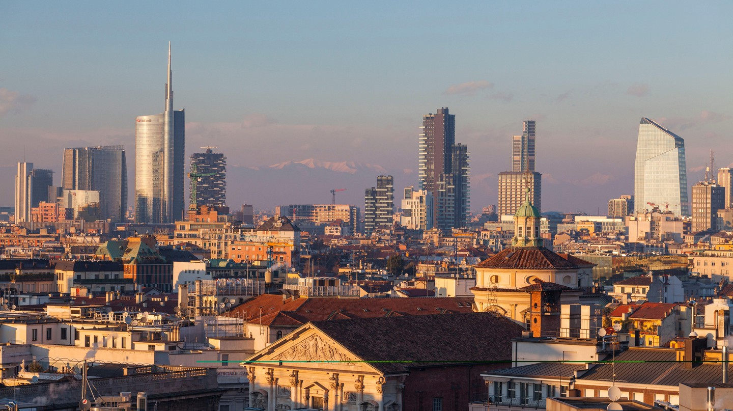 """""""Milan isn't stopping,"""" declares an advertising agency in the city"""