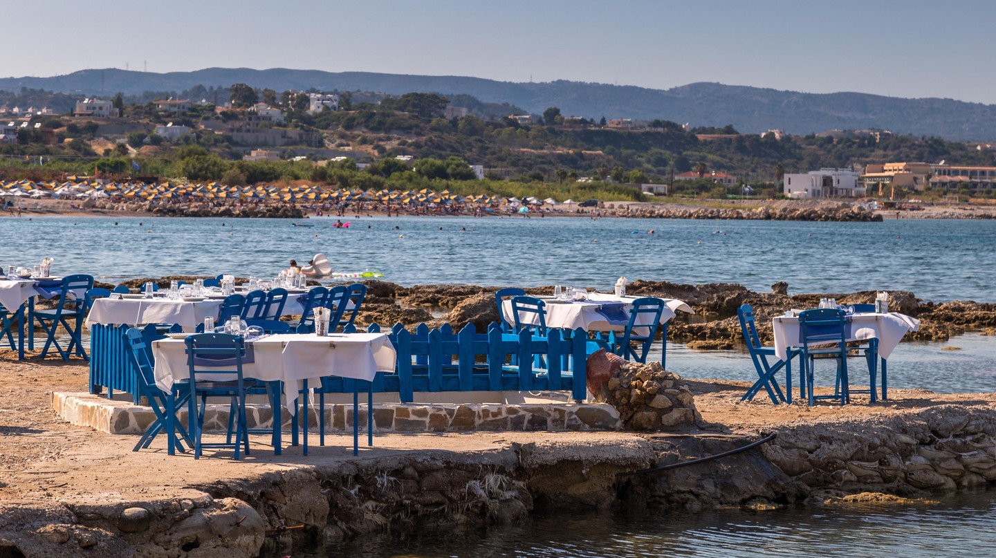 Many of the best restaurants in Rhodes come complete with a stunning sea view