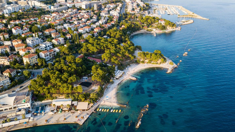 Bačvice is a public beach easily accessible from Split's city centre