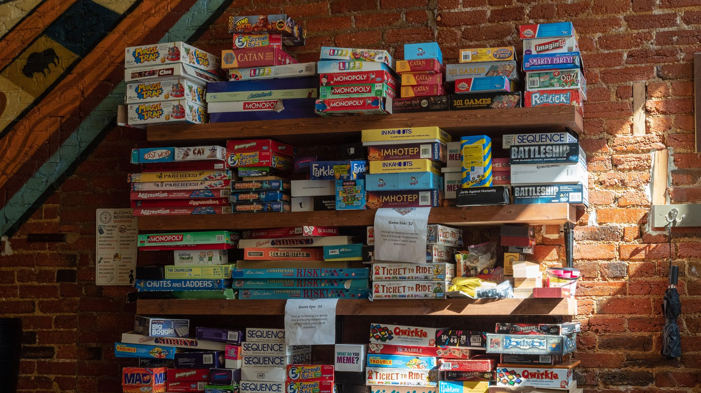 Many cafés and bars in Berlin now offer a selection of board games