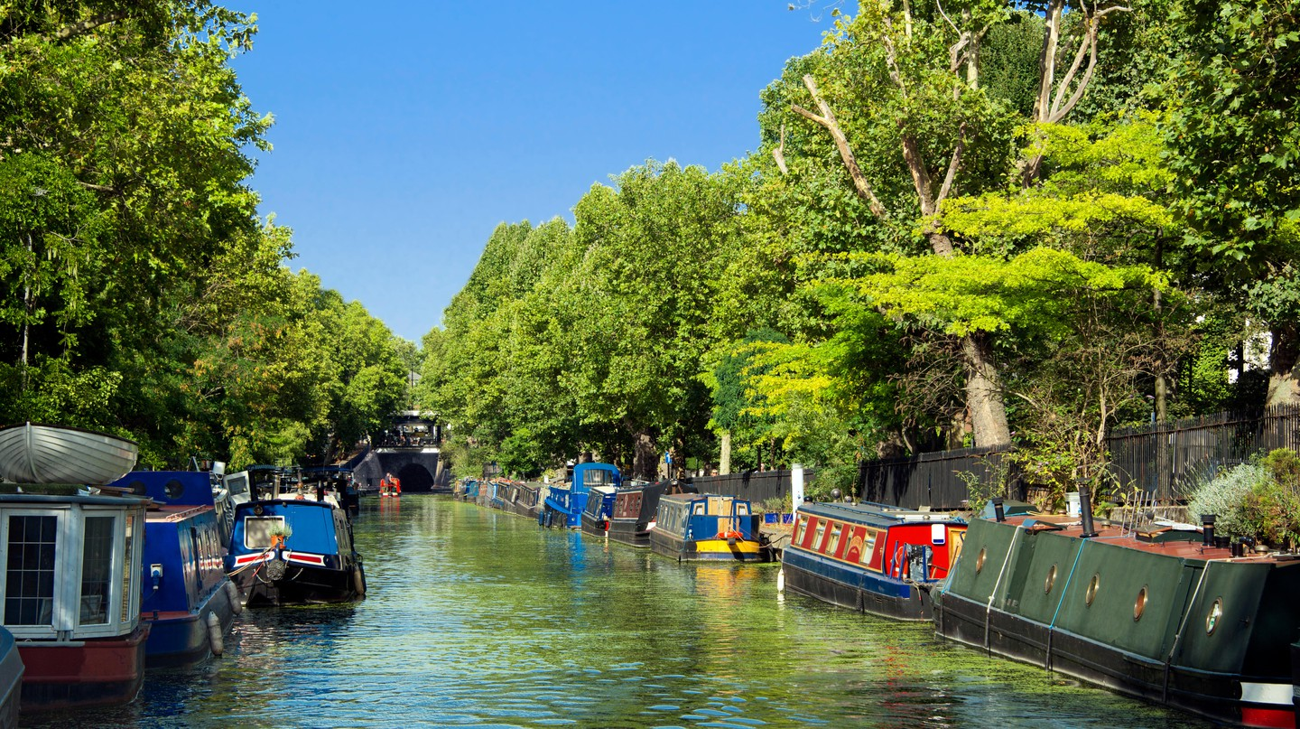 A canal is a perfect, scenic spot for a romantic walk