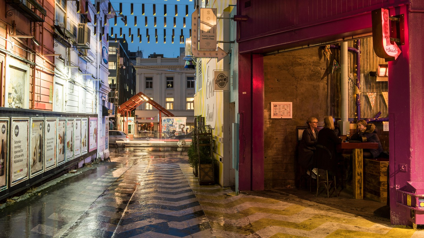 Eva Street in Te Aro, Wellington, has a number of cosy restaurants and bars to choose from