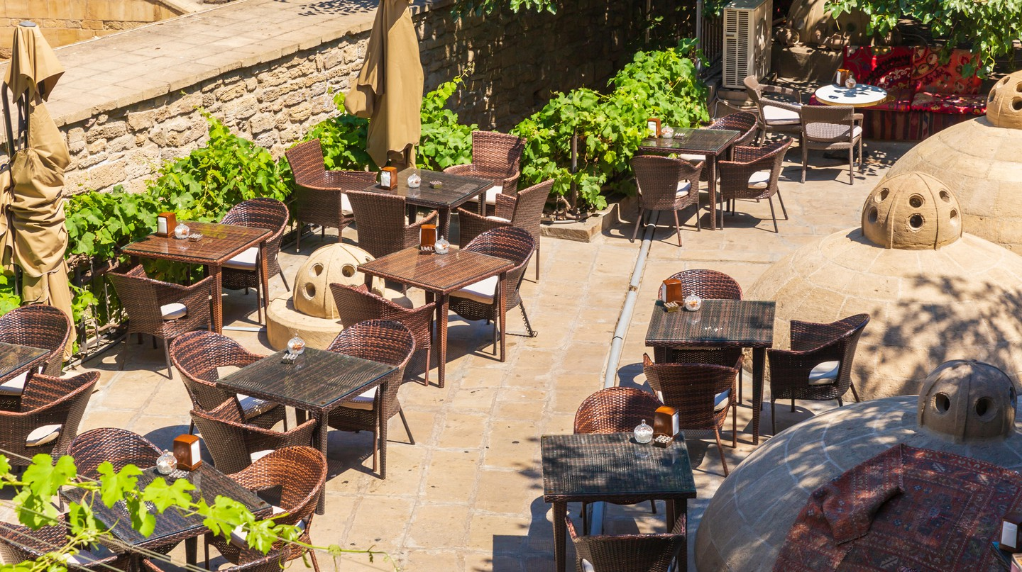 Baku's coffee shop scene ranges from stylish third-wave spots to relaxed courtyard cafés