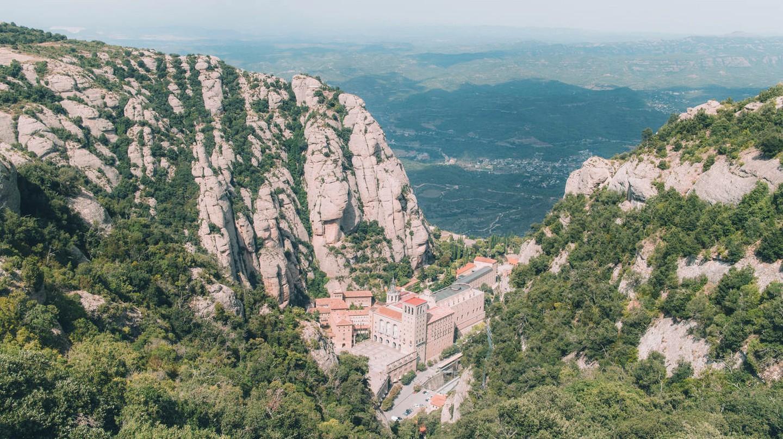 View of Montserrat Monastery, Spain