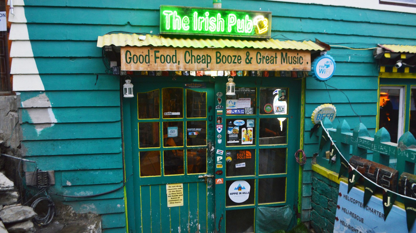 The Irish Pub is the last booze stop for hikers summiting Everest