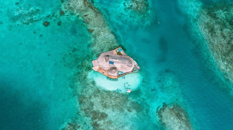 The ecofriendly Casa en el Agua lies off Cartagena, on Colombia's Caribbean coast