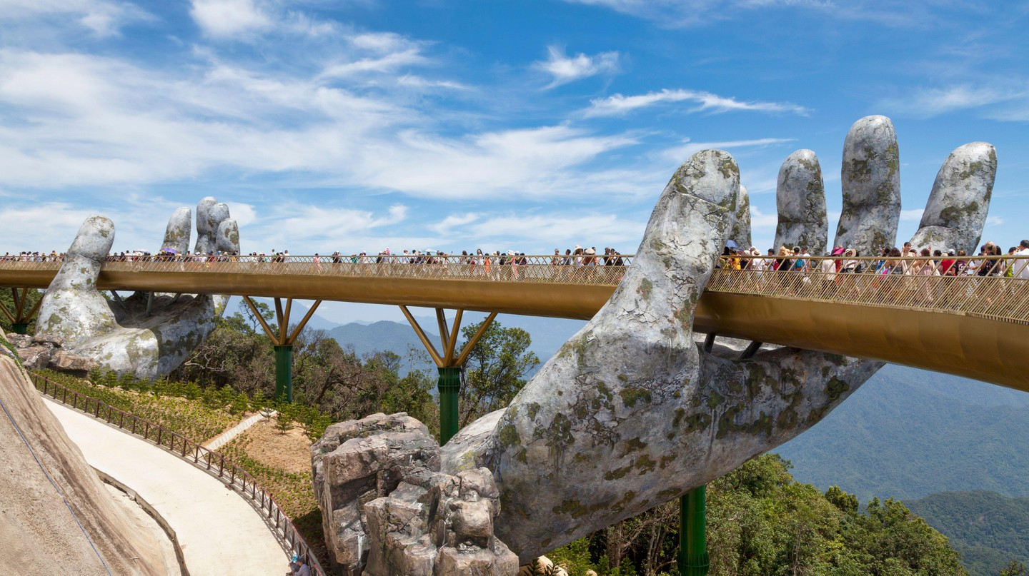 The Golden Bridge is an Instagram favourite with sweeping views of the surrounding landscape