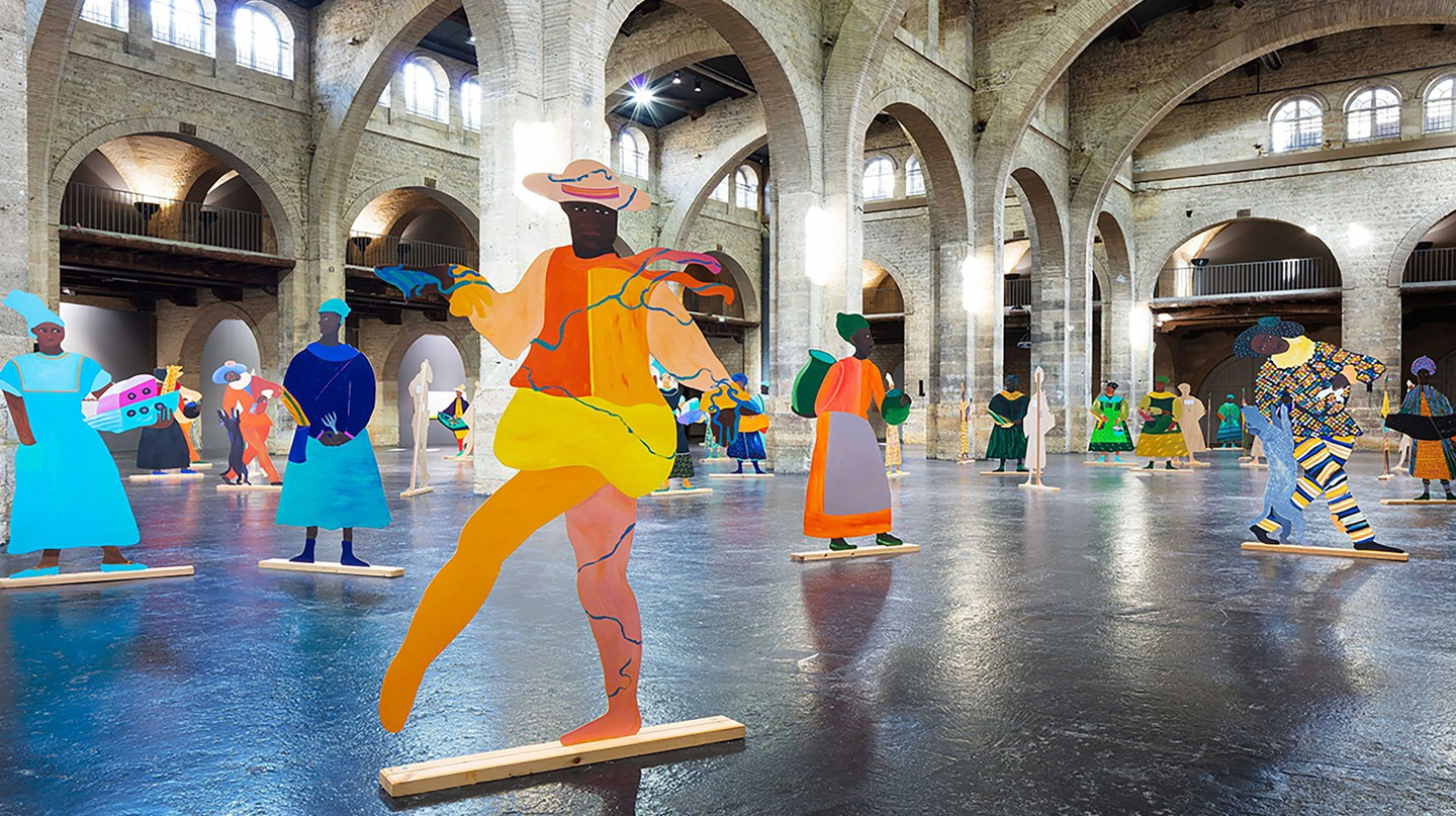 An installation by artist Lubaina Himid at the CAPC Musée d'Art Contemporain de Bordeaux, a focal point of the city's contemporary art scene