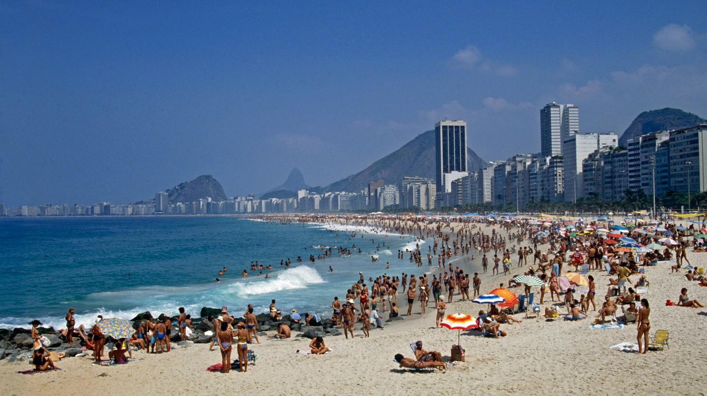 Copacabana beach is in the city of Rio de Janeiro, Brazil