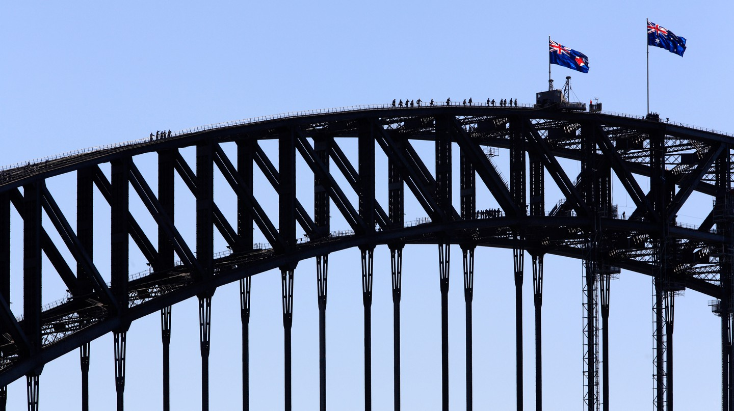 Take in the unbeatable views of Sydney from the top of the harbour bridge |