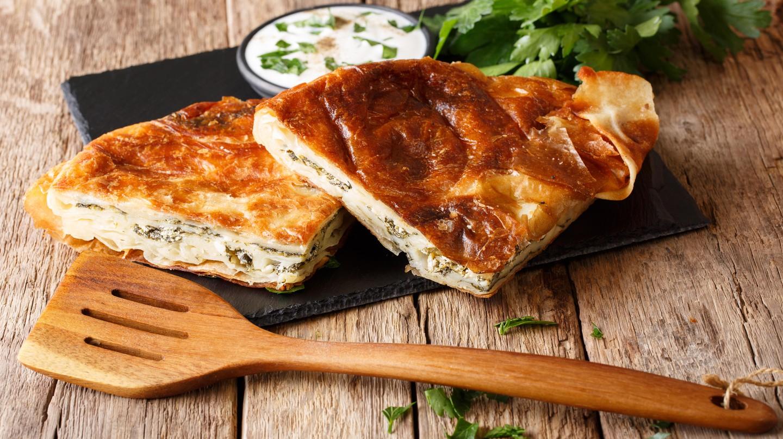 Burek is a popular Croatian breakfast item