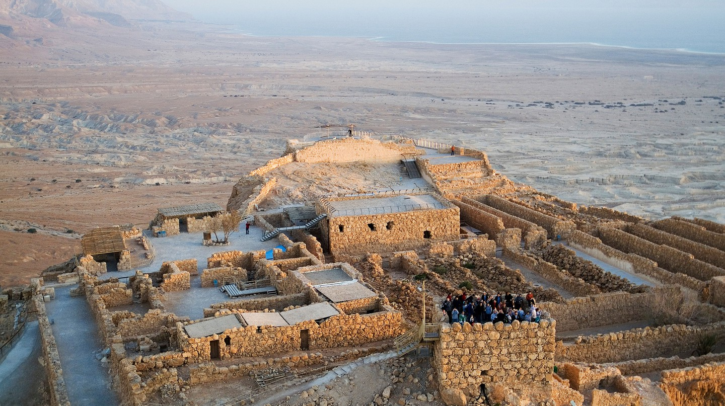 Visit the ancient fortress of Masada in Tel Aviv