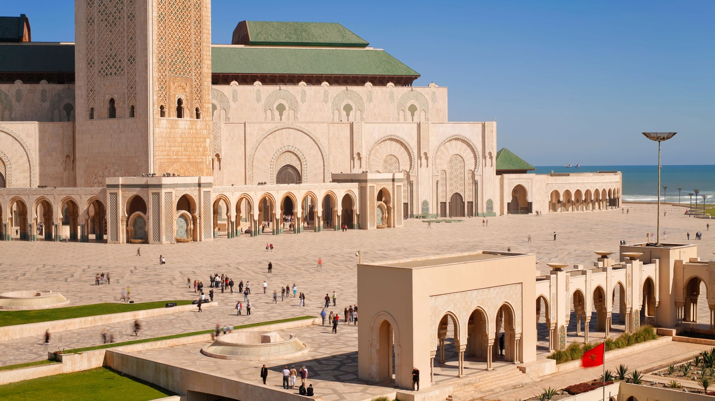 Casablanca is full of unique attractions, like Hassan II Mosque, the third largest mosque in the world