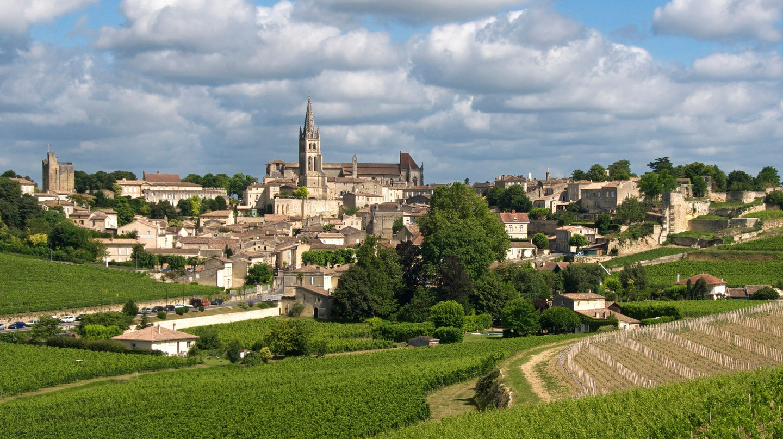 Village and vineyard of Saint Emilion