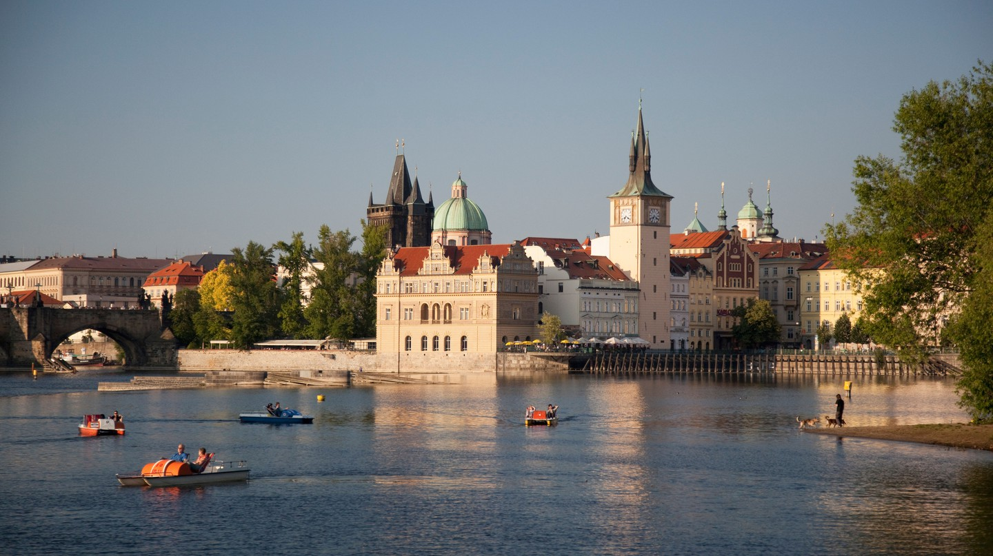 See Prague from the Vltava River