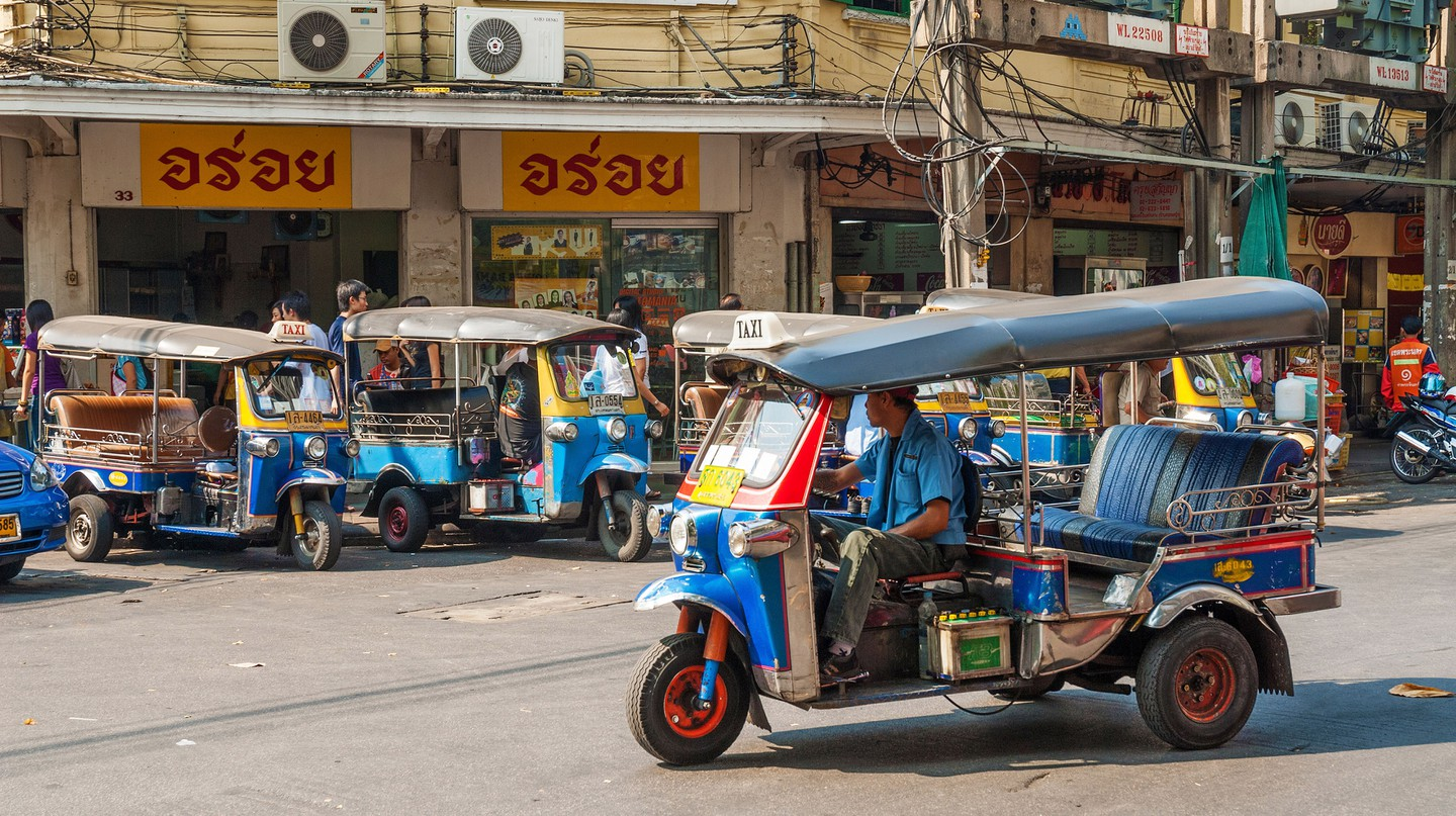 One of the best ways to see more of Bangkok, Thailand, is by tuk-tuk  
