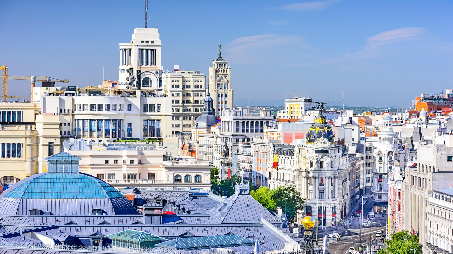 A view of Madrid over the Gran Via. Enjoy art, culture and tapas here in an authentic way |