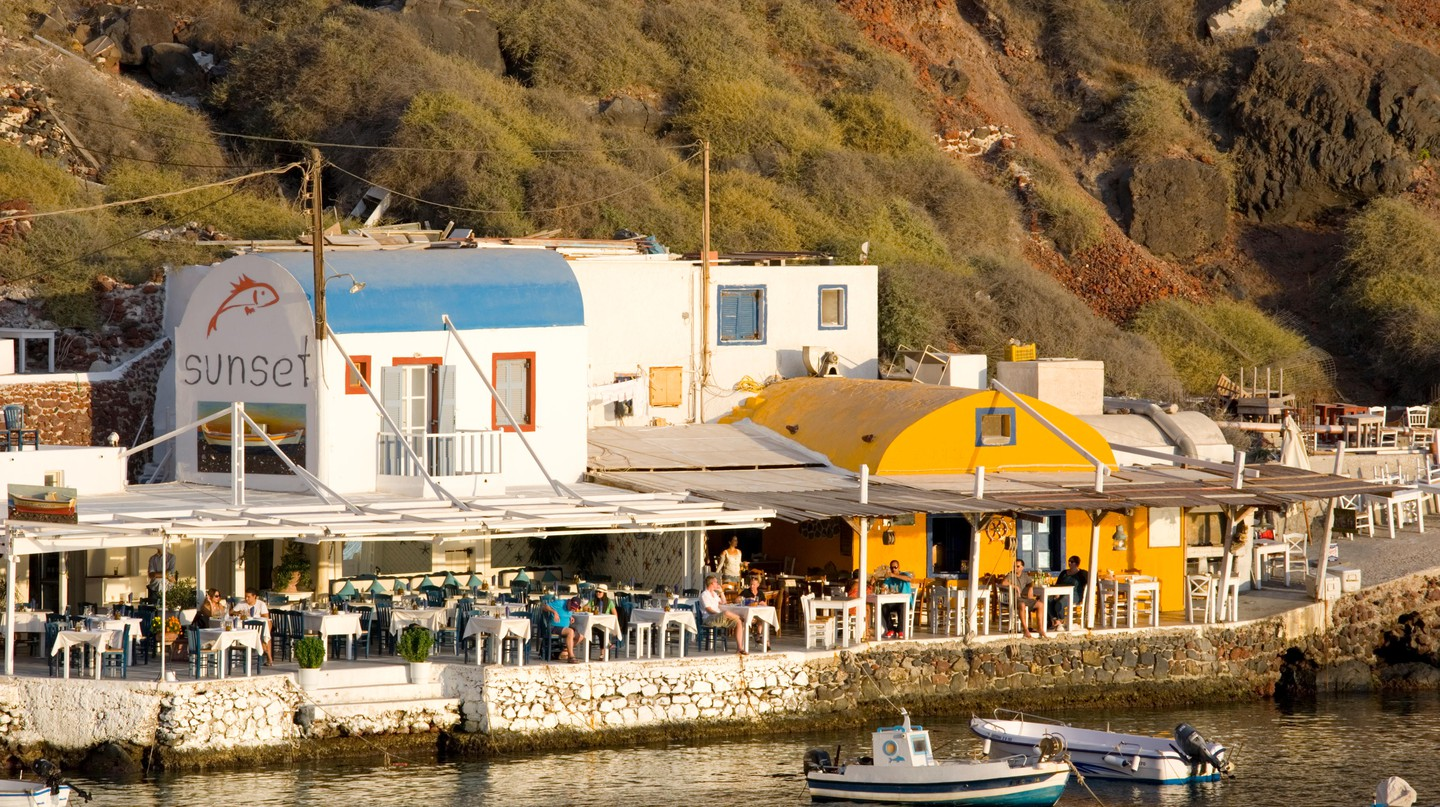 Many of Santorini's best bars have a stunning sea view