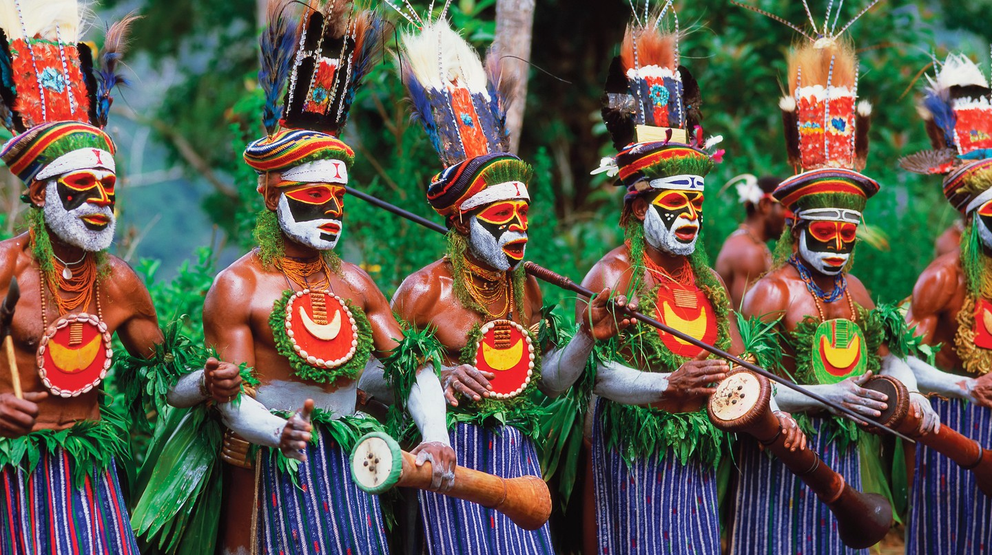 Performers gather at the Goroka Show in the Highlands region of Papua New Guinea for one of the nation's most famous festivals