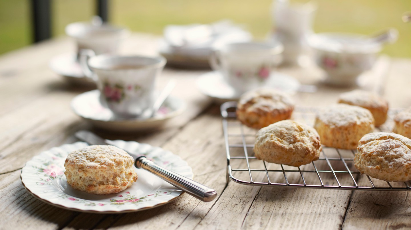 Freshly baked scones are a typical Irish treat