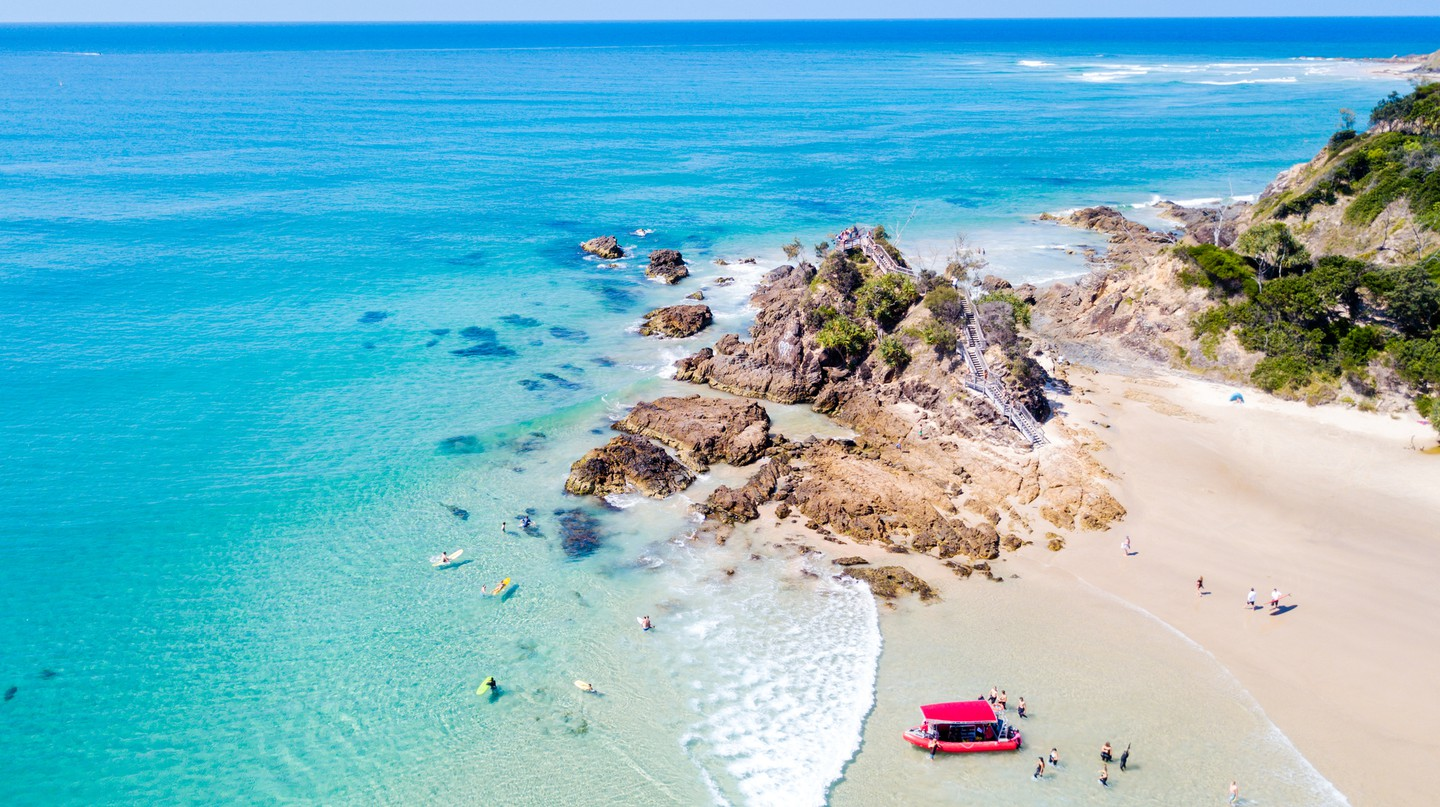 Visit the Pass and Wategos beach in Byron Bay and enjoy the natural beauty of the area