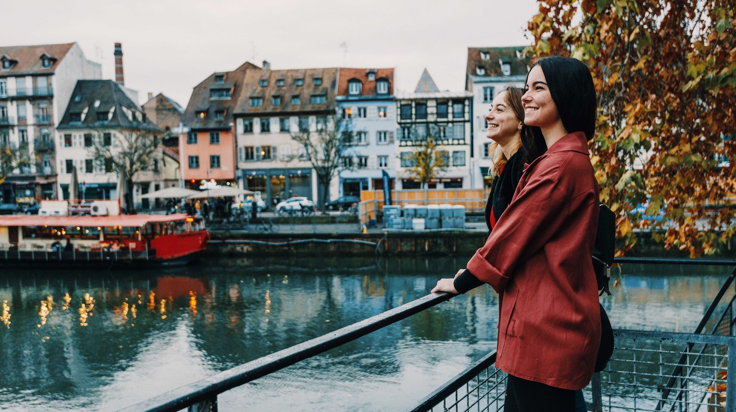 French tourists on city break in Strasbourg