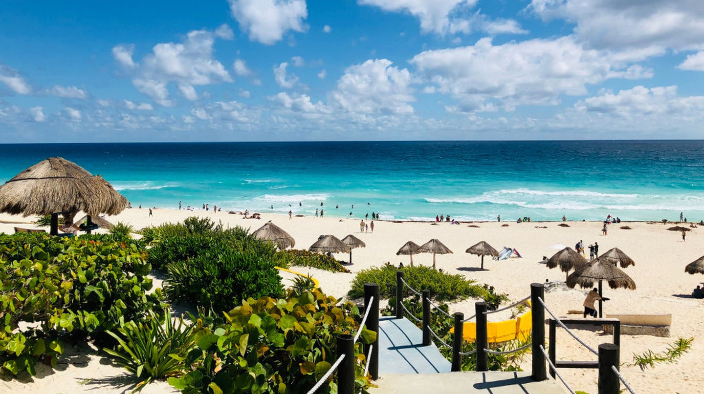 Cancún is famous for its turquoise waters and white-sand Caribbean beaches
