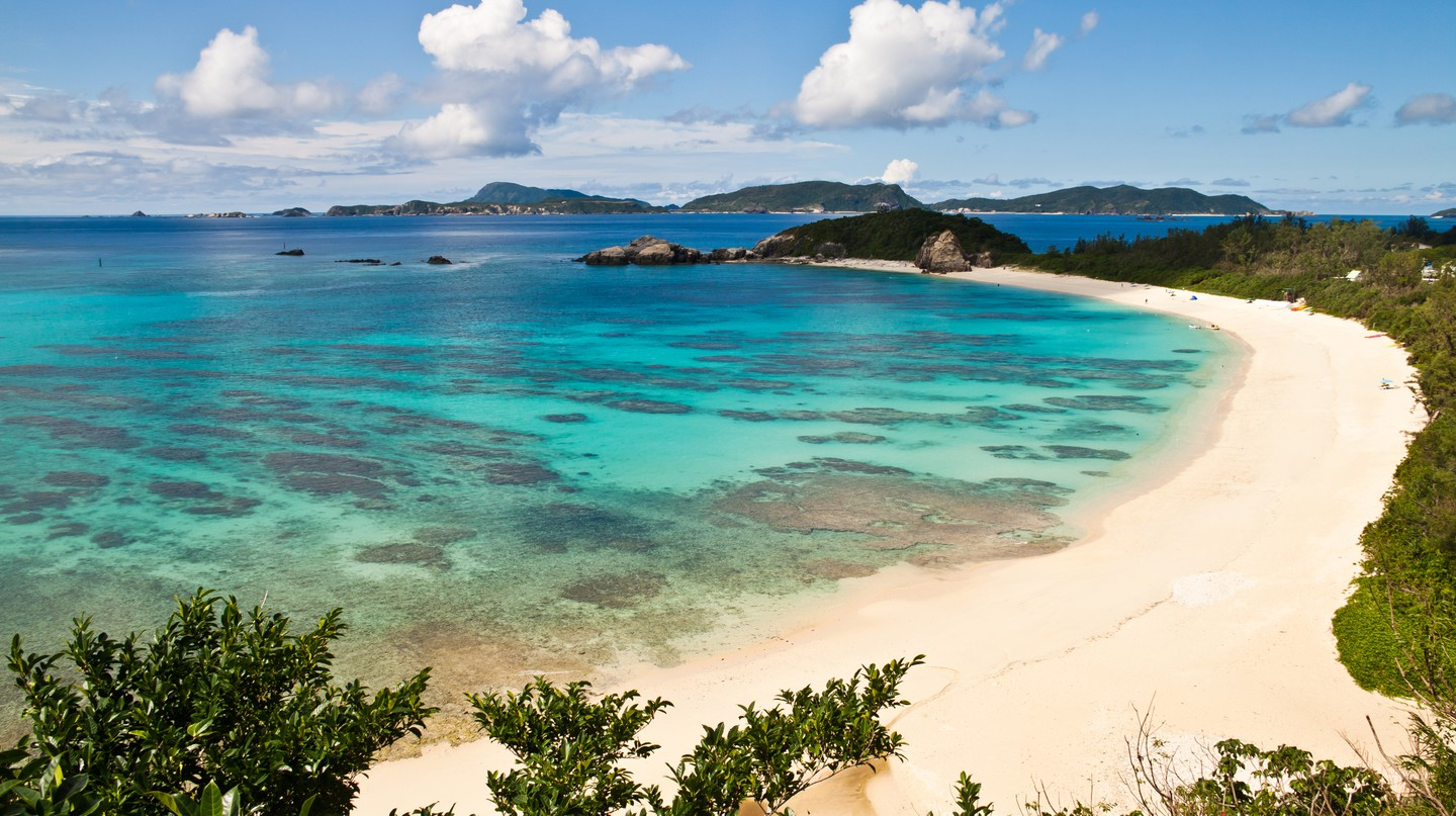 Aharen beach at Tokashiki Island is just one of the many beautiful sandy spots in Okinawa Prefecture