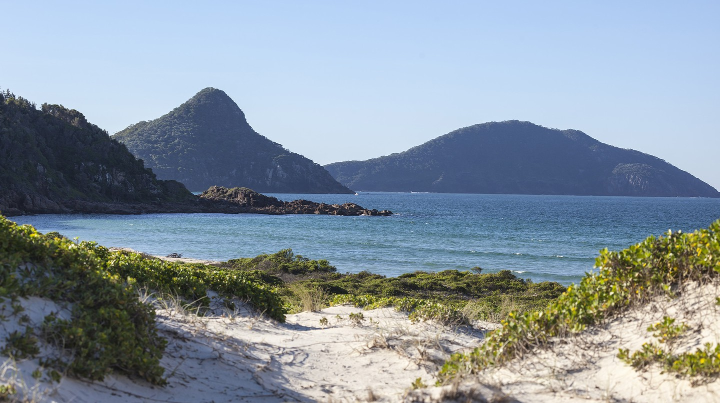 Enjoy soft sands and turquoise waters in Port Stephens, Australia