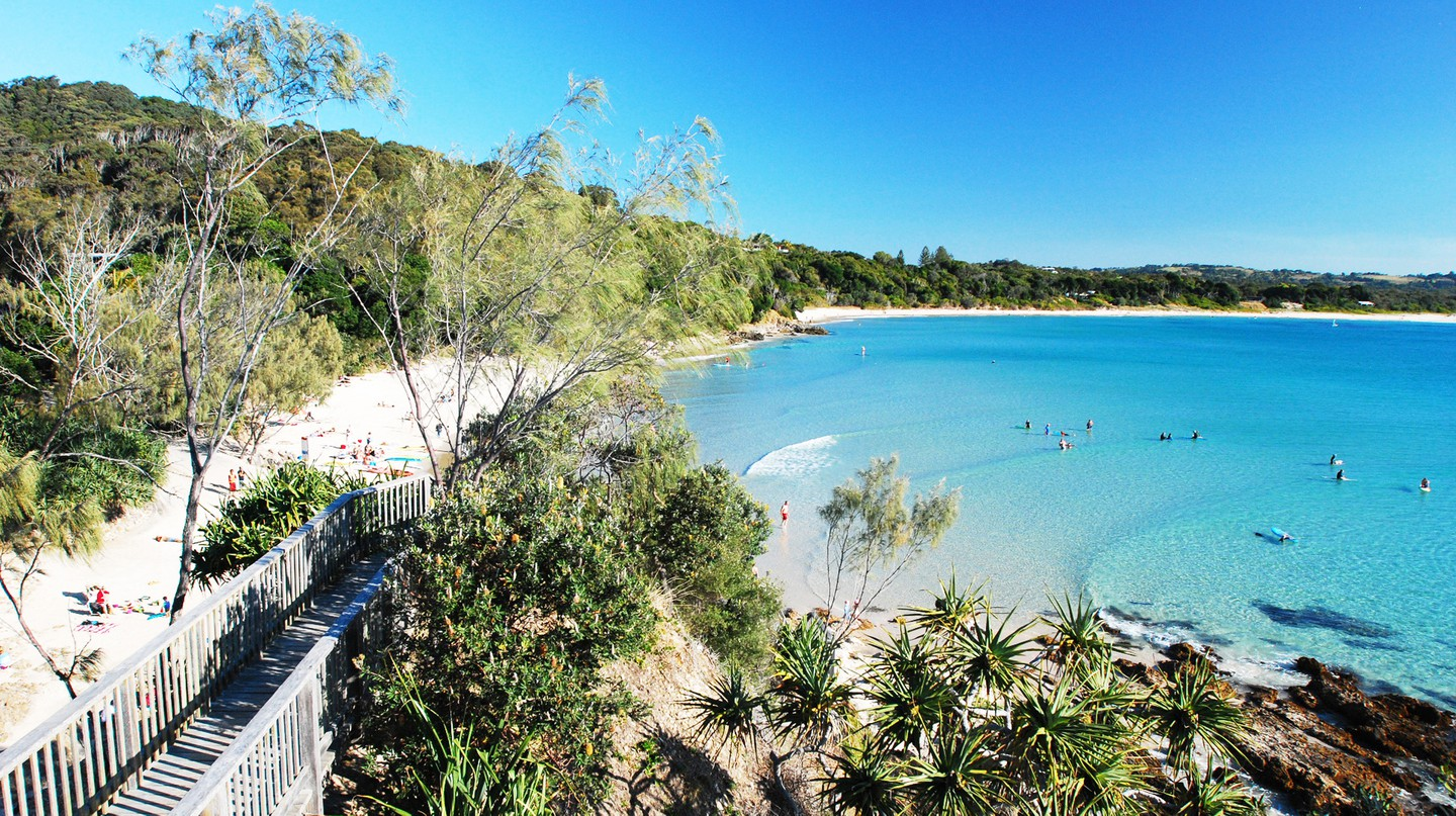 Byron Bay's beachside location and laid-back vibe make it a popular stop for backpackers