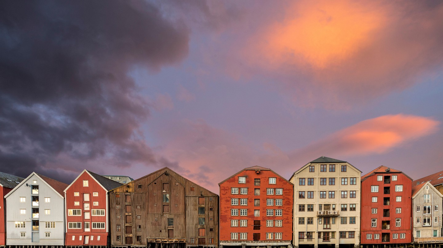 Bakklandet is known for its colourful buildings