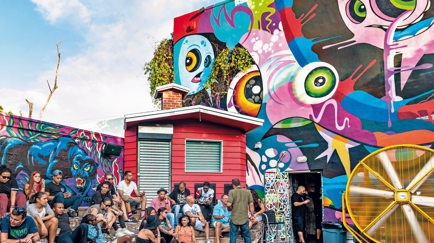Explore graffiti art in the Wynwood area of Miami