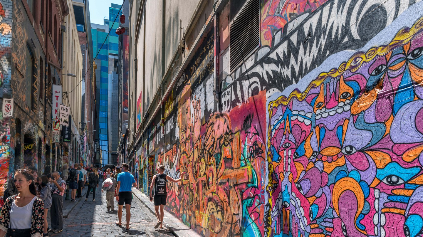Explore Melbourne's famous street art in its iconic laneways |