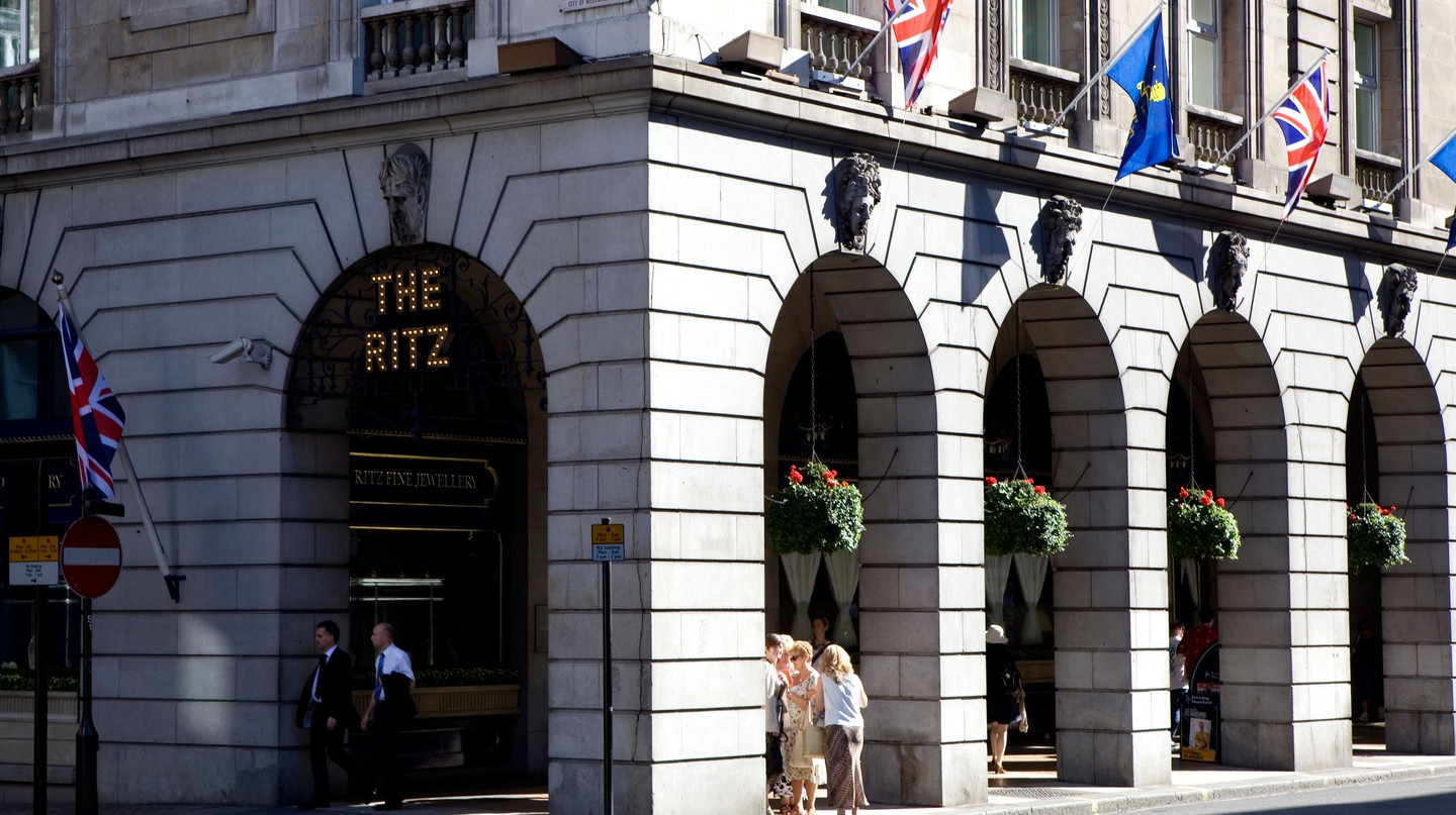 The world-famous Ritz hotel, on London's Piccadilly, has closed its doors for the first time ever