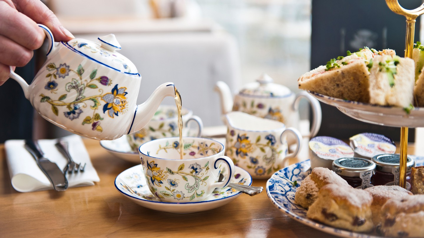 Settle down for afternoon tea at a London café