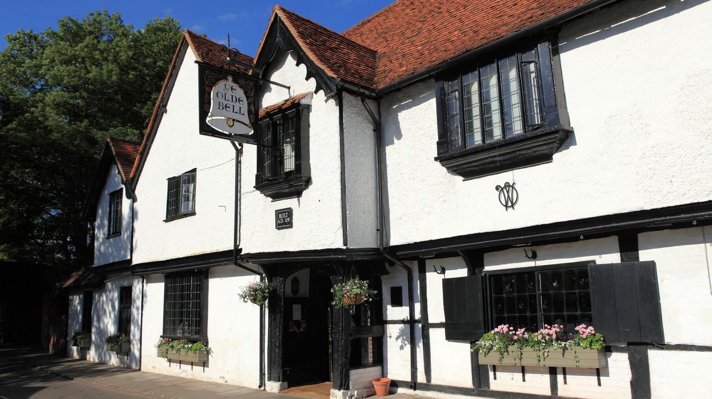 The historic Olde Bell Inn hosted a meeting between Dwight D. Eisenhower and Winston Churchill during World War II