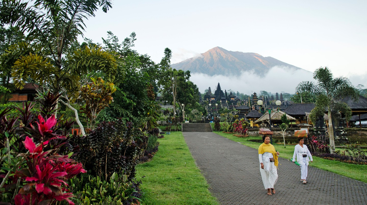 You can't gaze up at Mount Agung for real right now, but Indonesia is still within reach